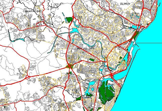 Mapas Digitais Pernambuco Cidades De DDD Mbicombr - Cabo de santo agostinho map